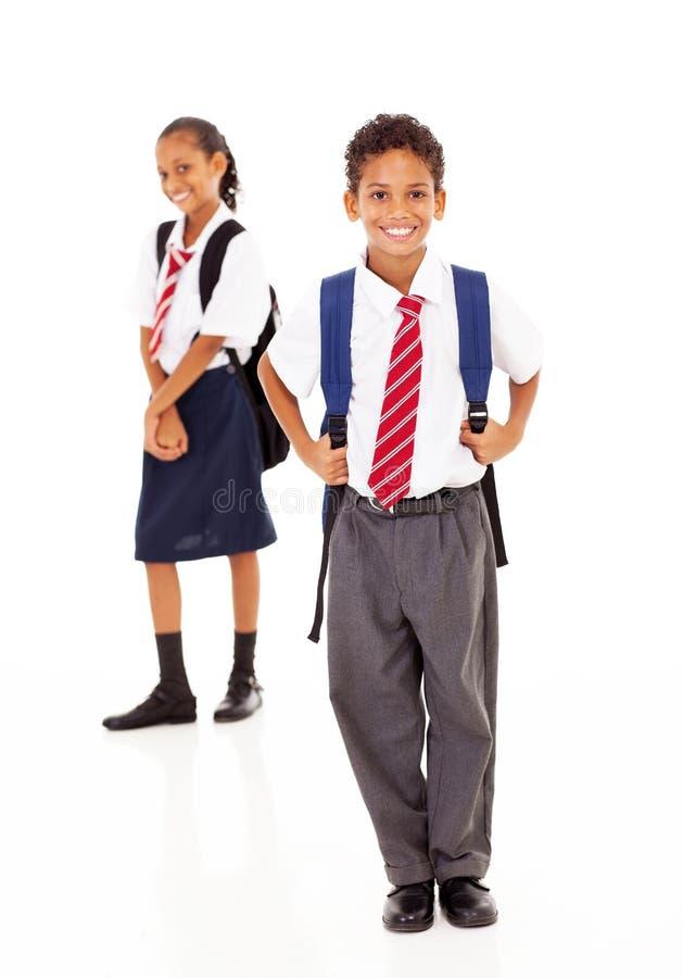 Szkoła podstawowa ucznie zdjęcie royalty free