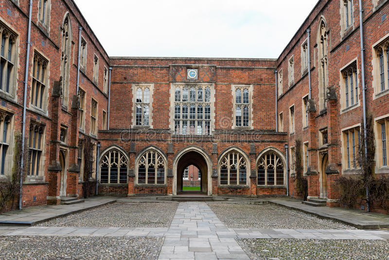 Szkoła wyższa budynki przy Winchester szkołą wyższa, UK obraz stock