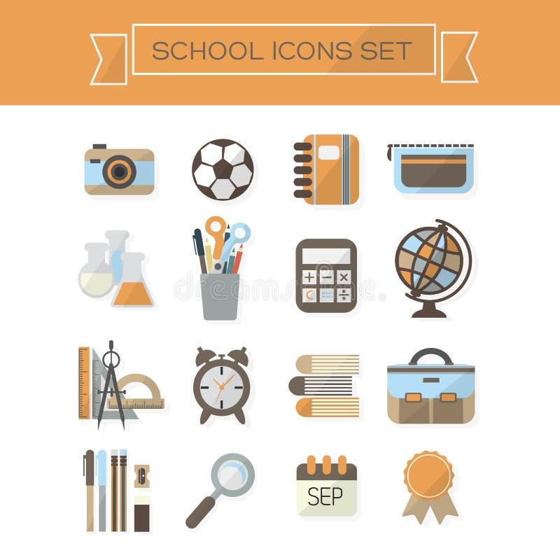 Szkoła Ximpx ikony ustawiać ilustracji