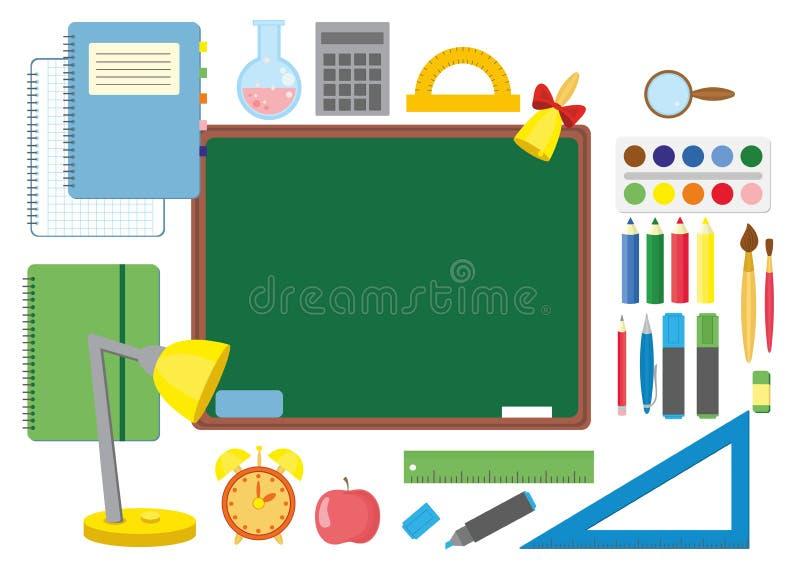 szkoła z tylnej ilustracja wektor