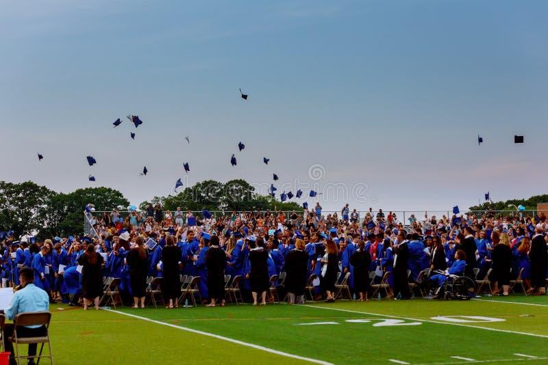 szkoły średniej skalowania kapelusze wysocy obrazy stock