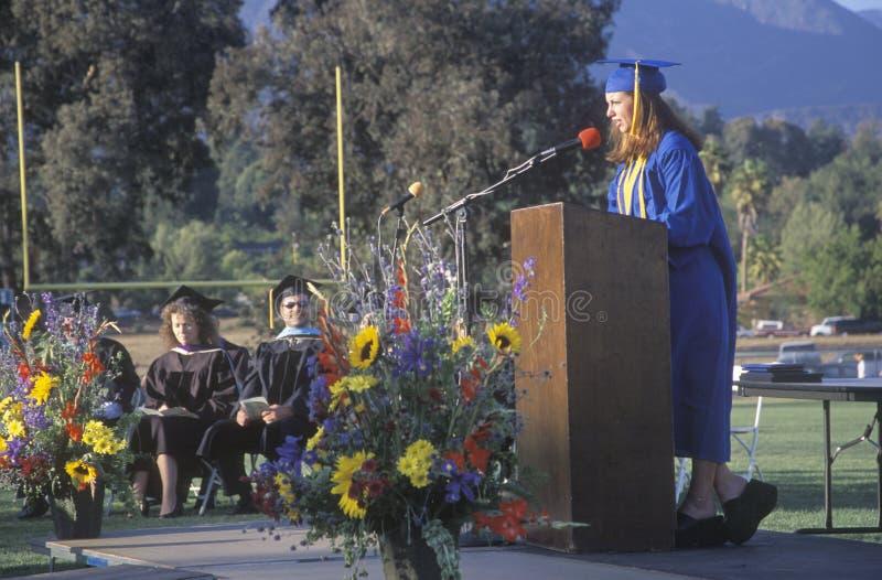 Szkoły średniej valedictorian zdjęcia royalty free