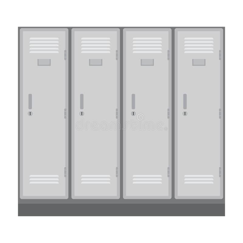 Szkoły lub odmienianie pokoju szafki ilustracja wektor