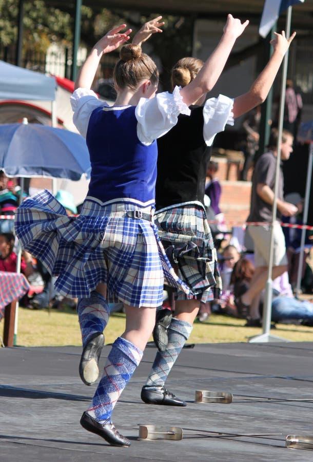 Szkoccy tancerze zdjęcia royalty free
