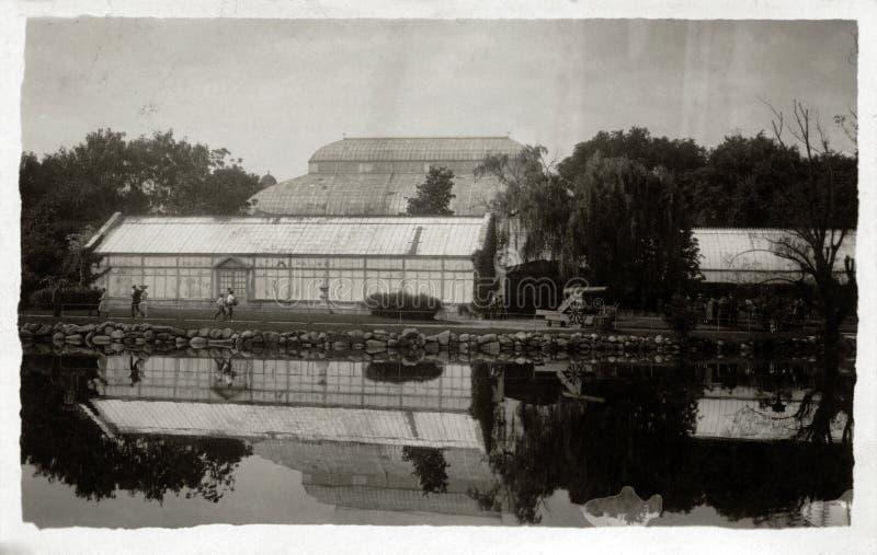 Szkocja ogródu botanicznego odbicie & szklarnia zdjęcia stock