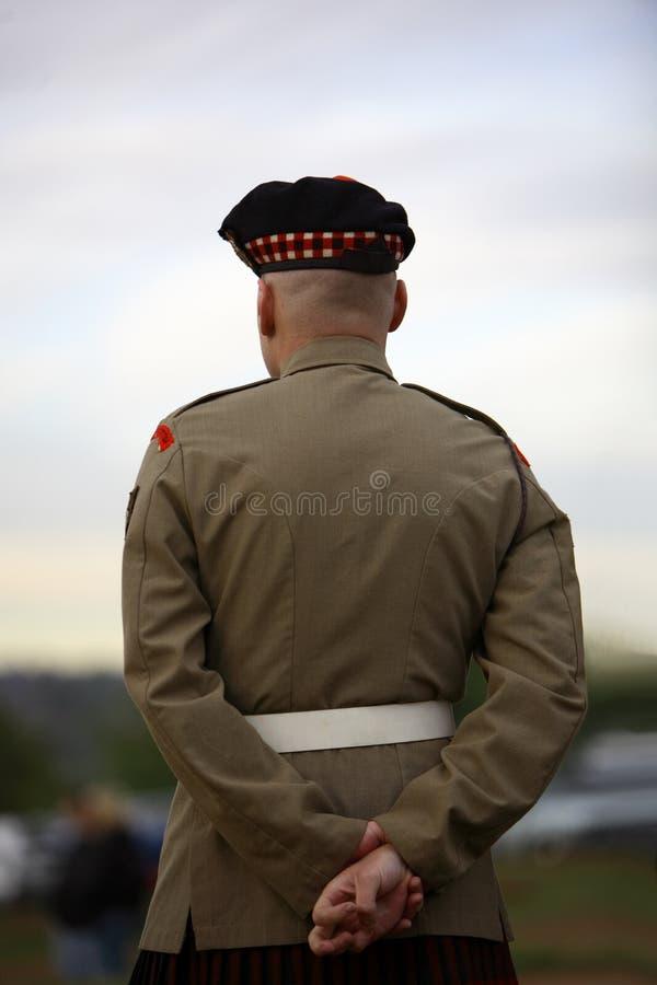 szkocka żołnierz fotografia stock