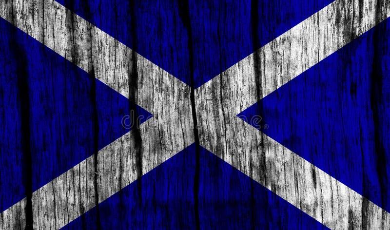 Szkocka flaga ilustracji