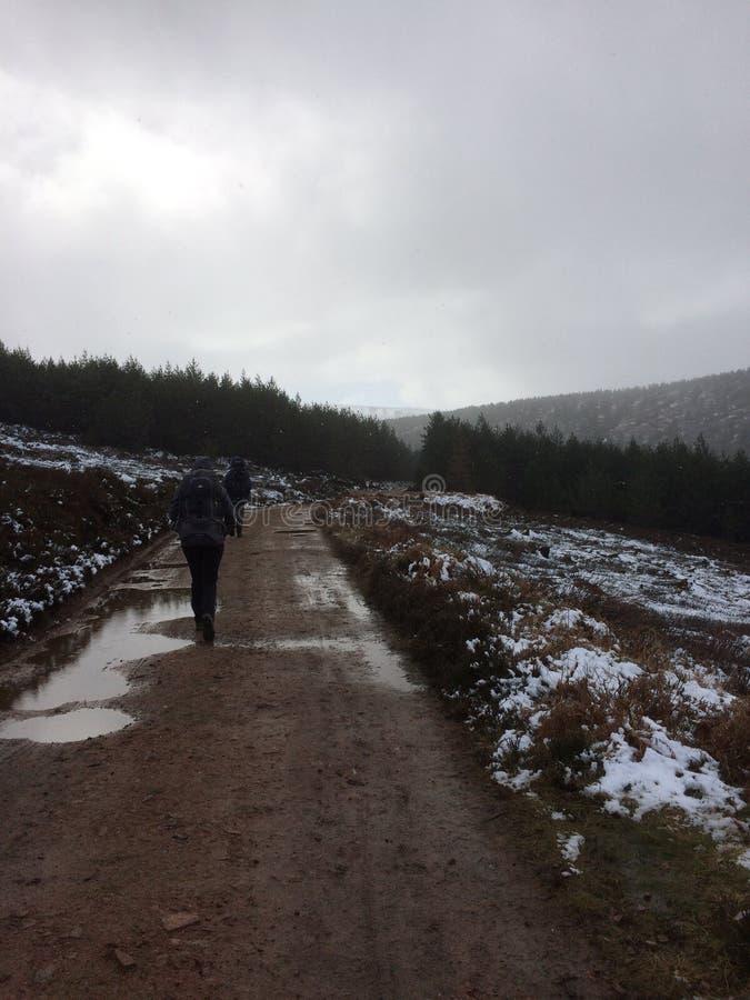 Szkocka góry pogoda zdjęcia royalty free