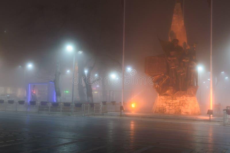 Szkocka mgła W Tureckim lata i wakacje Urlopowym miasteczku obrazy royalty free