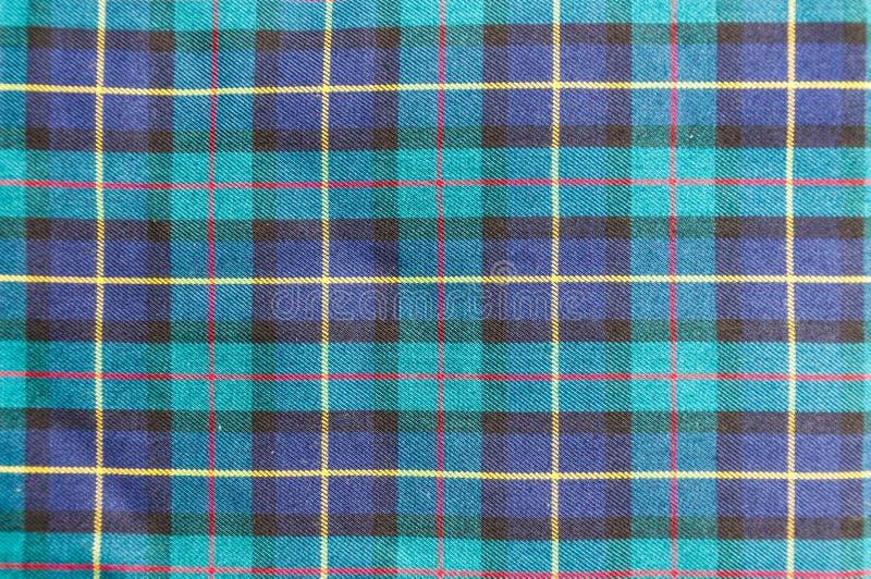 Szkocka tkaniny tekstura zdjęcia stock