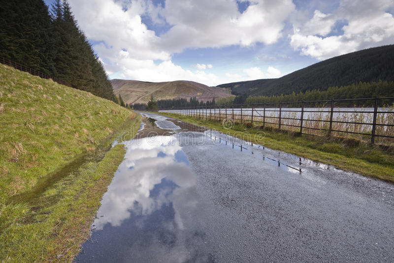 Szkocka wiejska droga zdjęcia stock