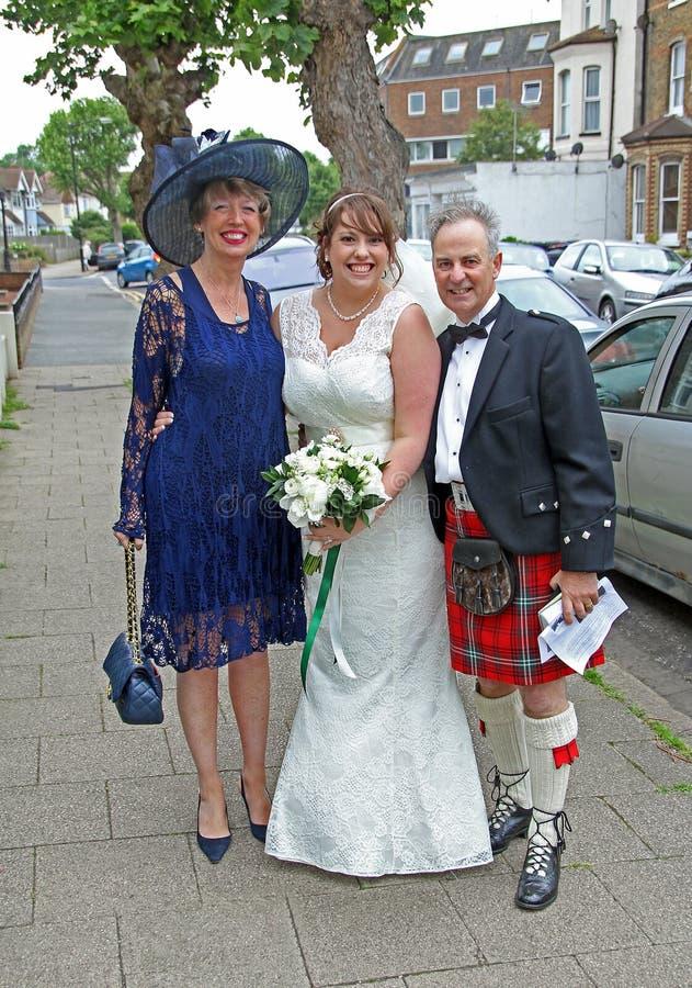 Szkocki ślub zdjęcia royalty free