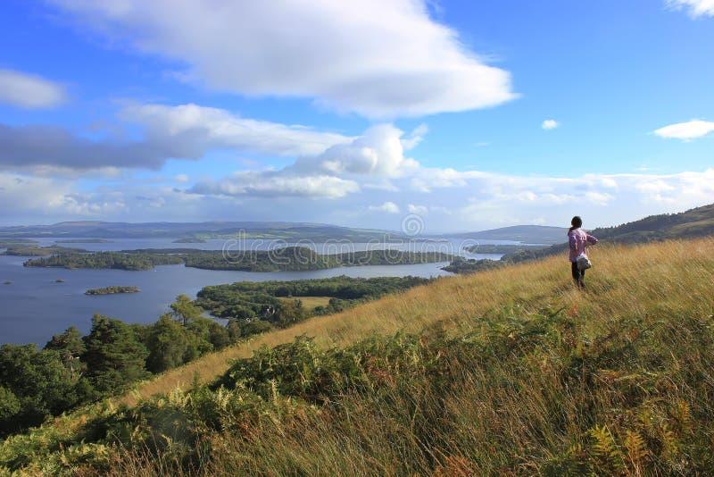 Szkocki krajobraz, Szkocja, UK obraz royalty free