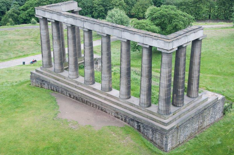 Szkocki Krajowy Zabytek, Calton Wzgórze, Edynburg fotografia stock