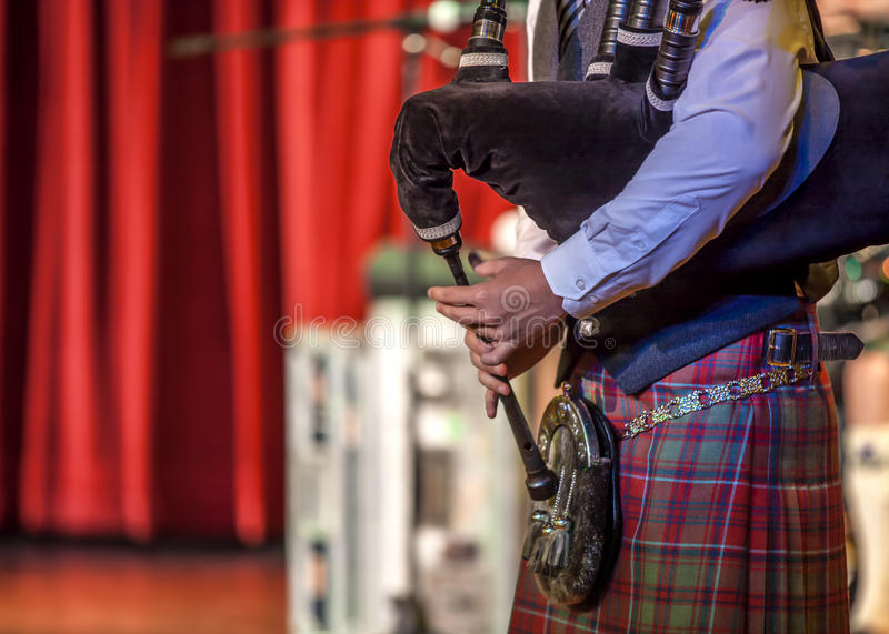 Szkocki musicien bagpiper2 zdjęcie royalty free