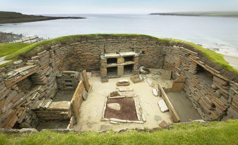 Szkocki prehistoryczny miejsce w Orkney Skara Brae scotland zdjęcia stock