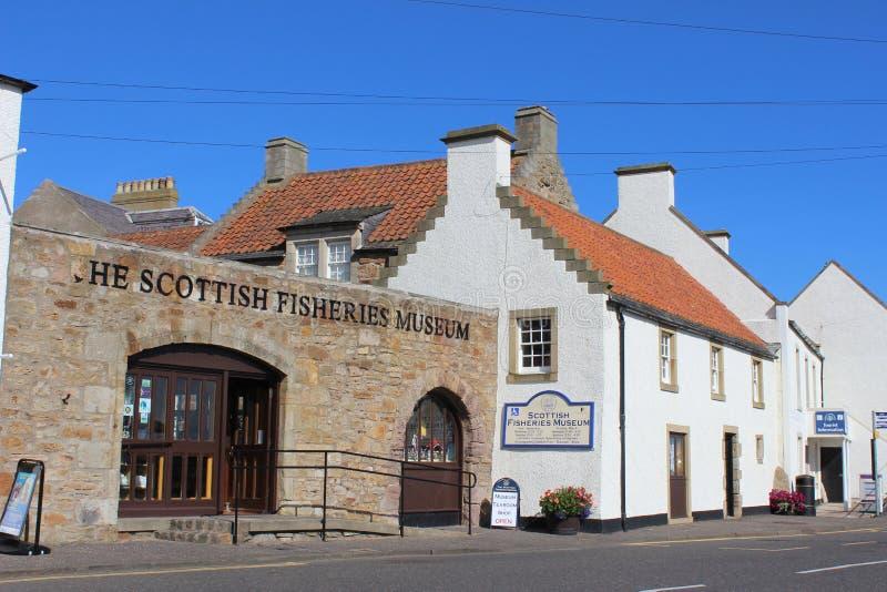 Szkockich rybołówstw Anstruther Muzealna piszczałka Szkocja obraz royalty free