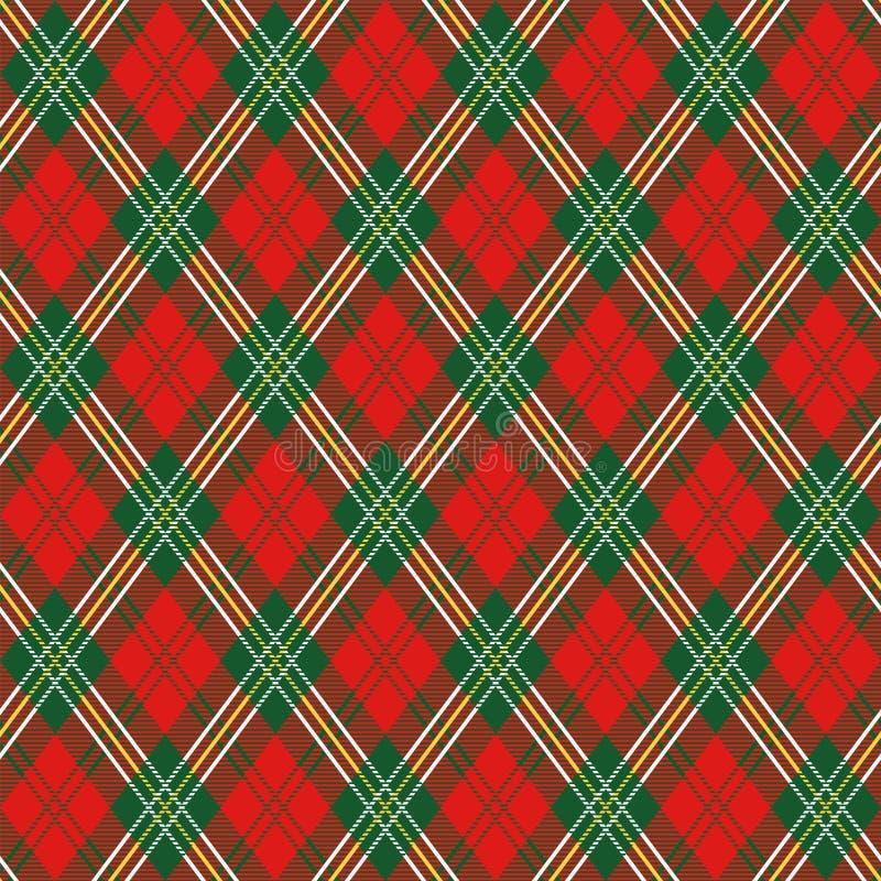 szkockiej kraty czerwień ilustracji