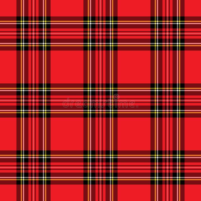 szkockiej kraty deseniowa czerwień ilustracja wektor
