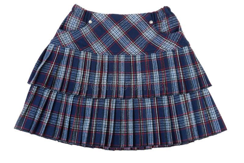 szkockiej kraty kobieca spódnica obrazy royalty free