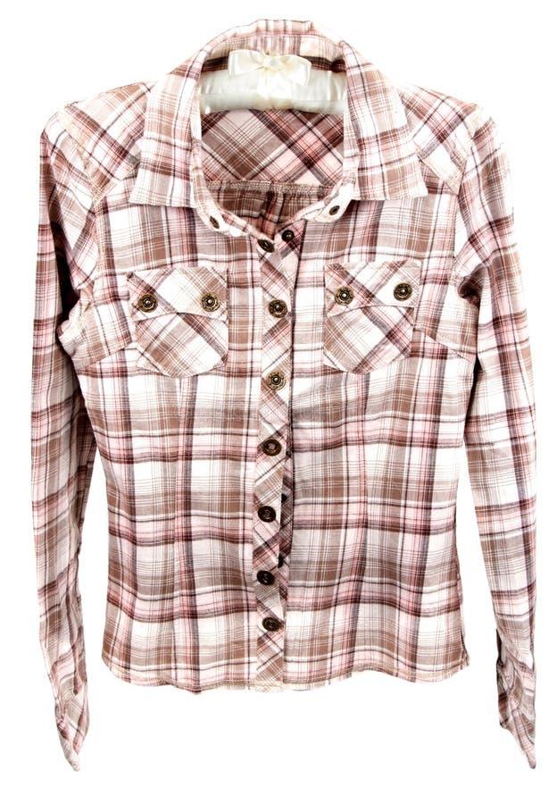 szkockiej kraty męska koszula zdjęcie royalty free