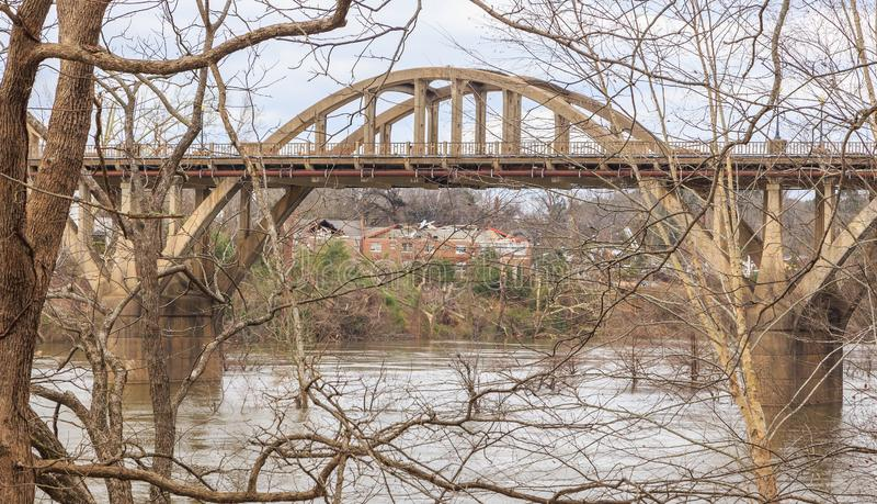 Szkoda Od tornada który Uderzał Wetumpka, Alabama obrazy stock