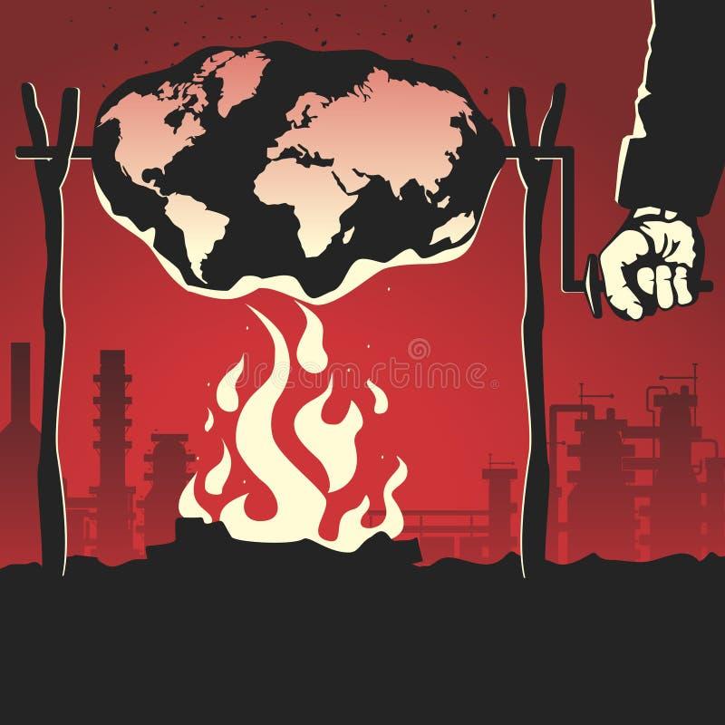 Szkodliwe emisje ilustracja wektor