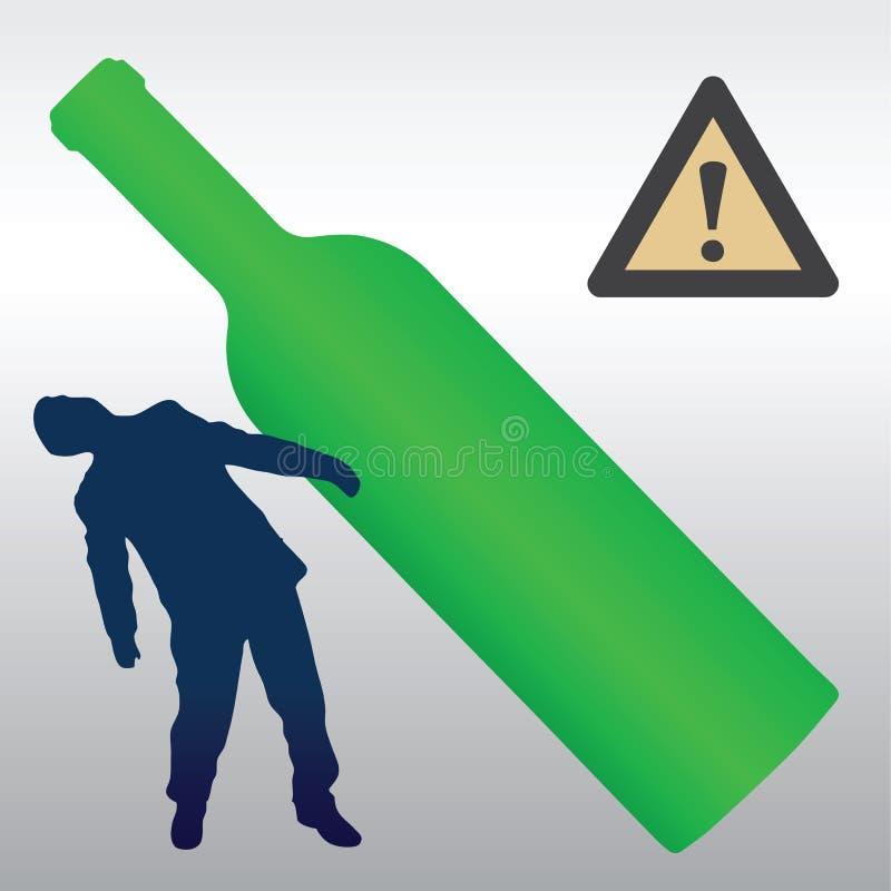 Alkoholu szkodliwy skutek ilustracja wektor