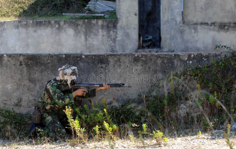 szkolenie bojowe wojskowe obrazy royalty free