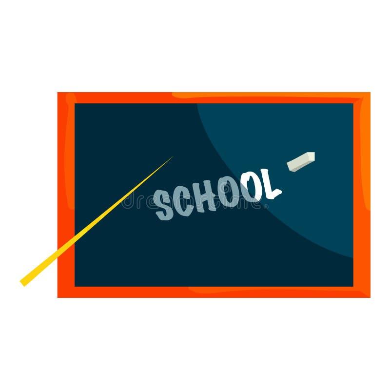 Szkolna blackboard ikona, kreskówka styl ilustracji