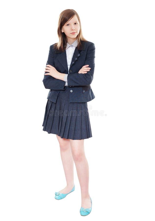 Szkolna dziewczyny pozycja obrazy stock