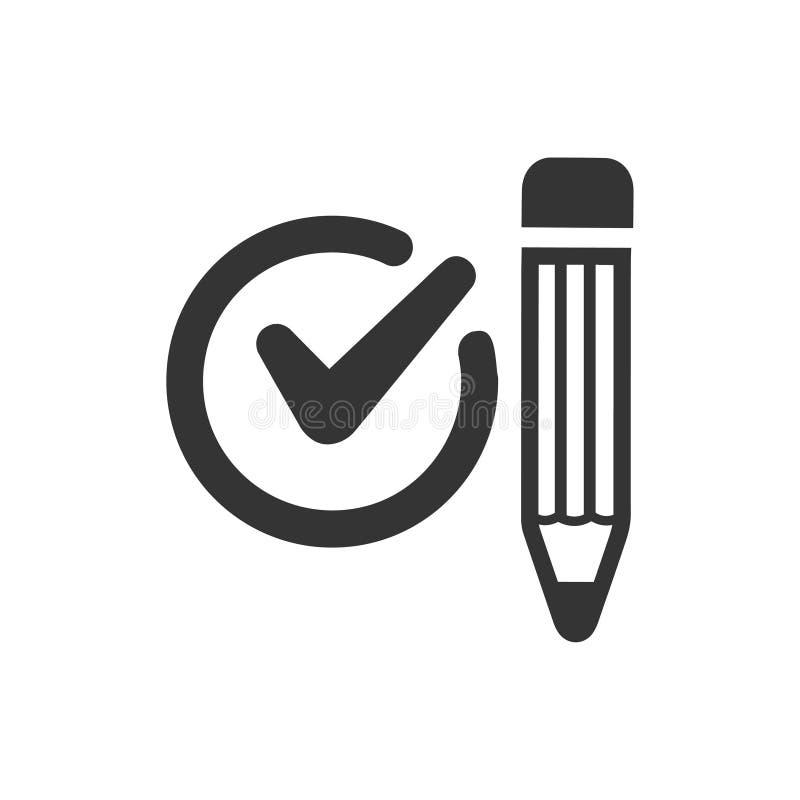 Szkolna egzamin ikona ilustracja wektor