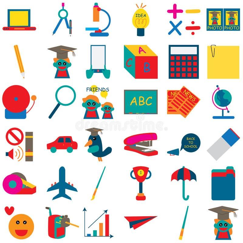 Szkolna ikona 3 ilustracja wektor