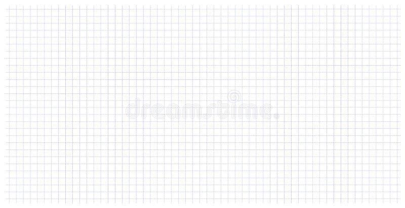 Szkolna notatnika papieru siatki sztuka w klatce Kropkowany linia stół ilustracja wektor