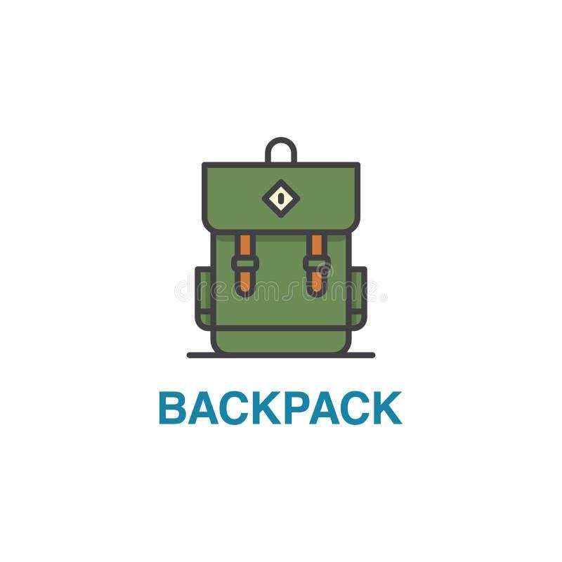 Szkolna plecak ikona royalty ilustracja