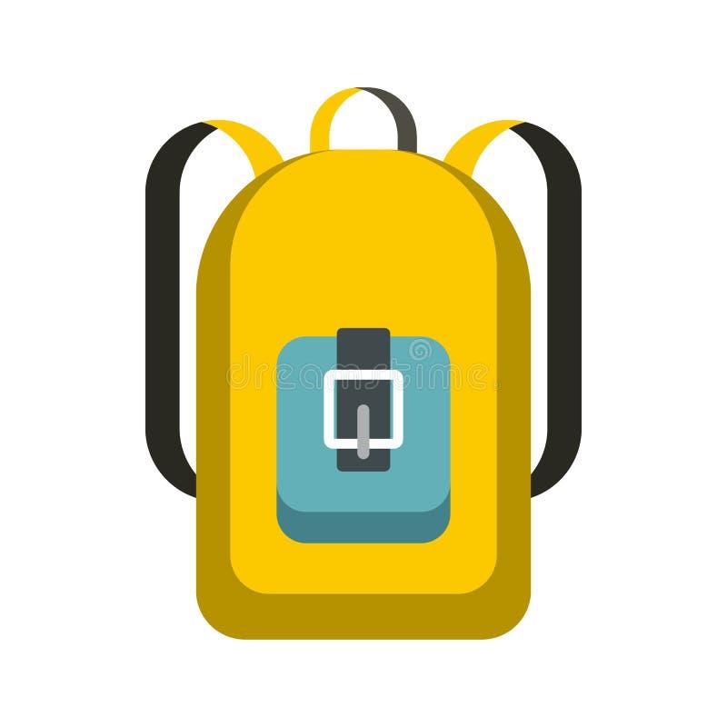 Szkolna plecak ikona, mieszkanie styl royalty ilustracja