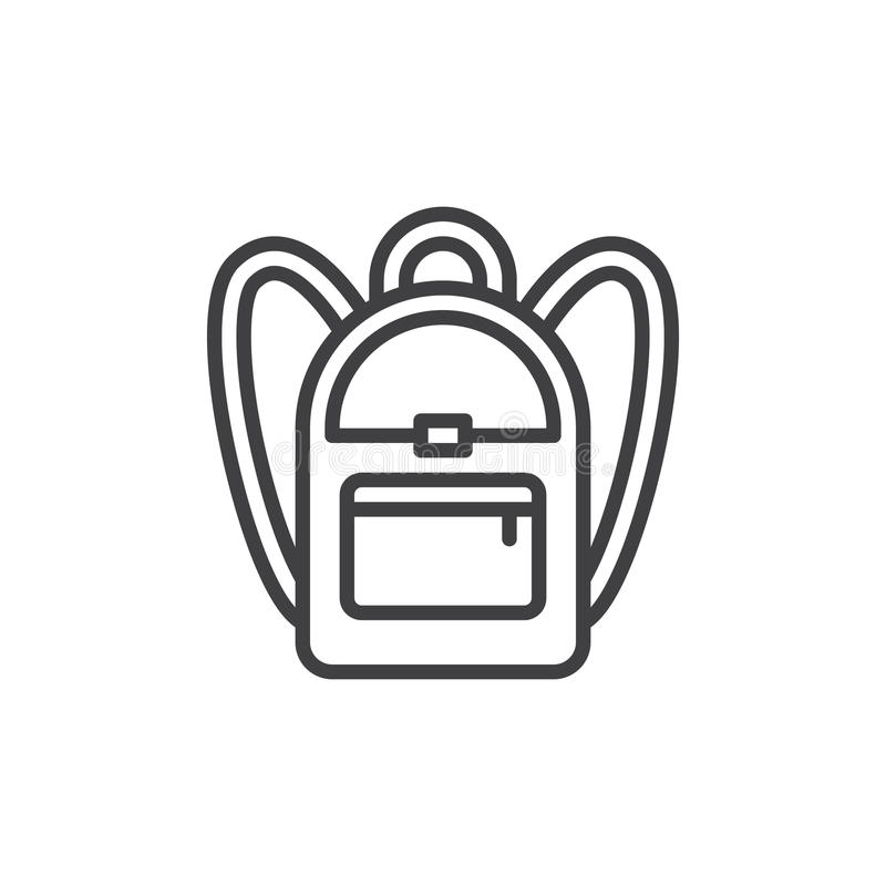 Szkolna plecak linii ikona ilustracja wektor