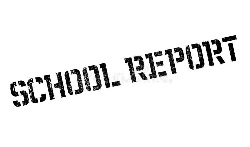 Szkolna Raportowa pieczątka ilustracja wektor