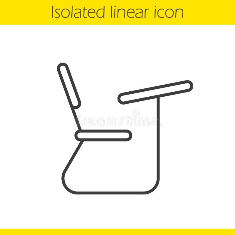 Szkolnego biurka liniowa ikona royalty ilustracja