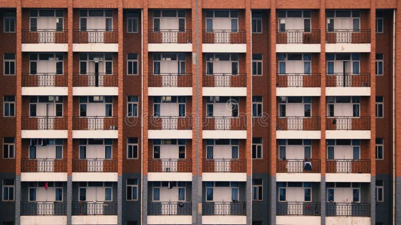Szkolnego dormitorium Balkonowy nadokienny budynek obrazy royalty free