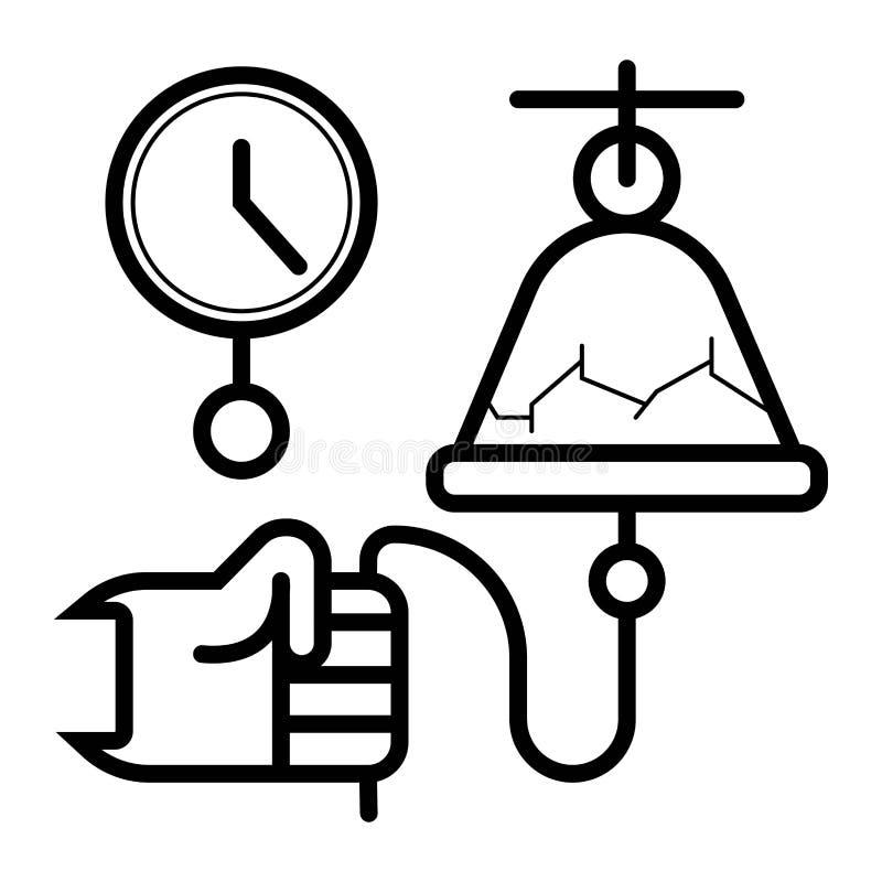 Szkolnego dzwonu ikony wektor ilustracja wektor
