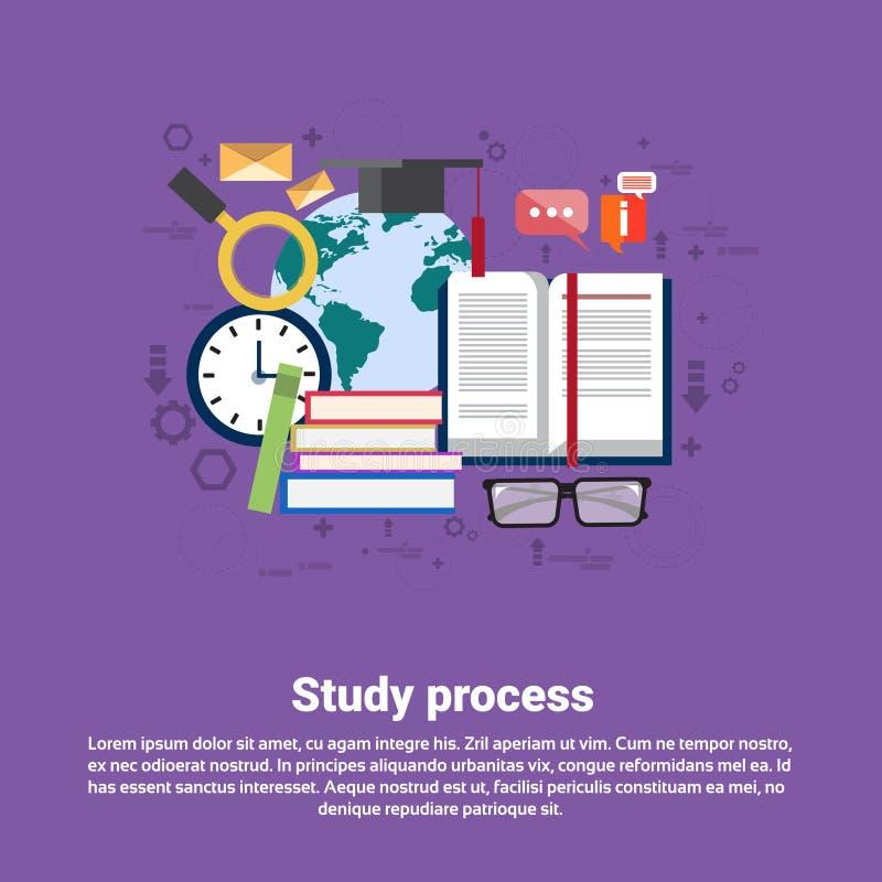 Szkolnego nauka procesu edukaci sieci Uniwersytecki sztandar ilustracji