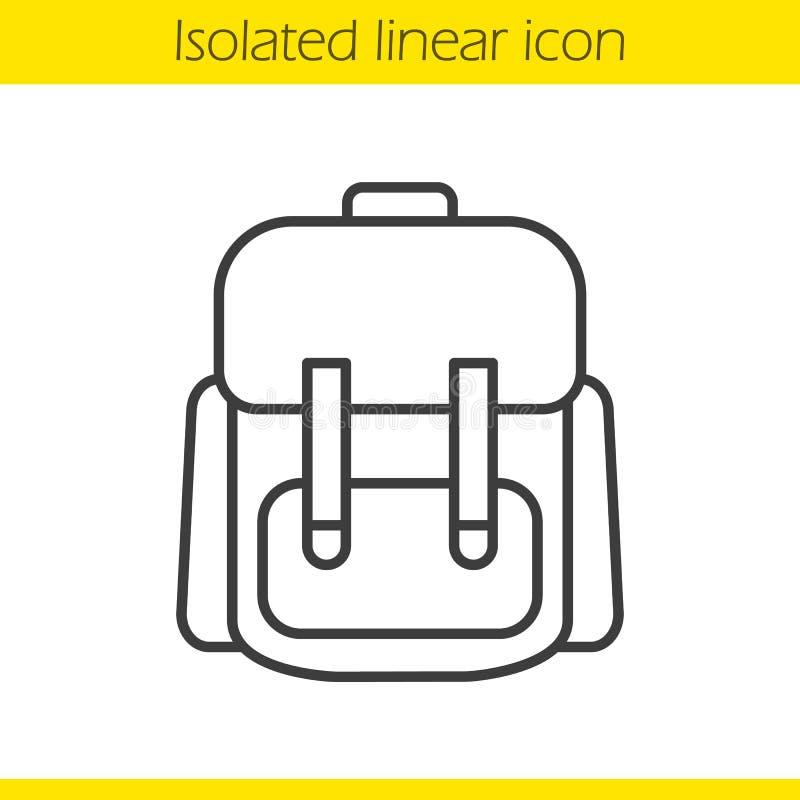 Szkolnego plecaka liniowa ikona ilustracja wektor