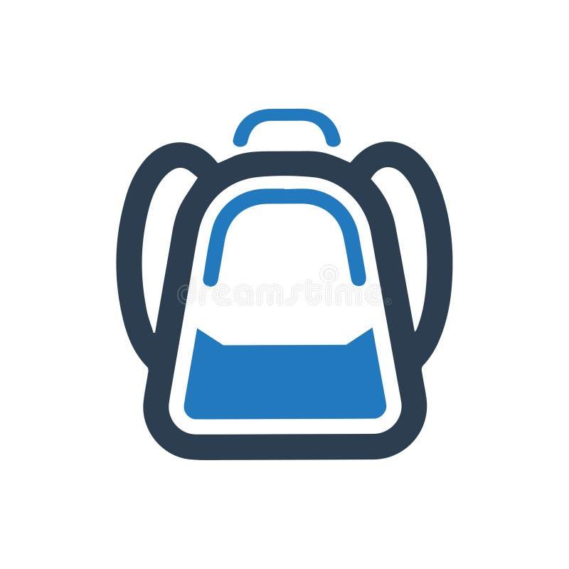 Szkolnej torby ikona royalty ilustracja
