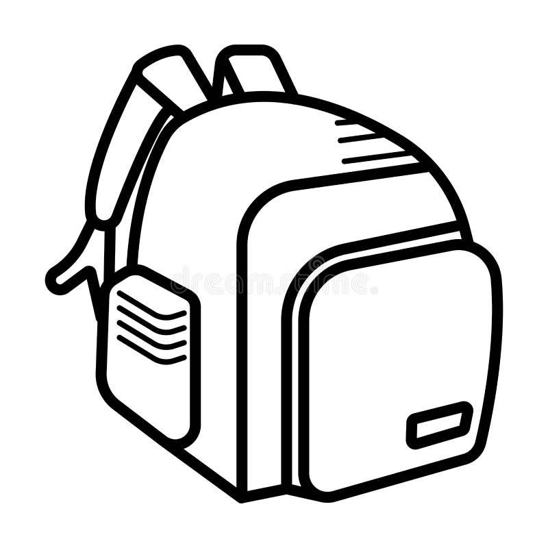Szkolnej torby ikony wektor ilustracji