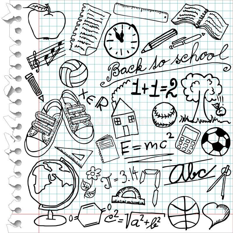 szkolni symbole ilustracja wektor