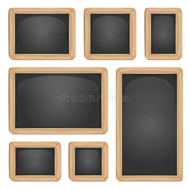 Szkolny Blackboard set royalty ilustracja