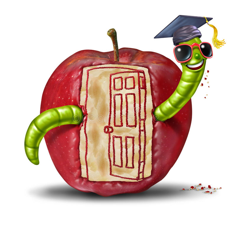 Szkolny otwarte drzwi ilustracji