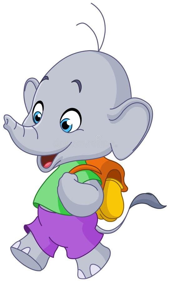 Szkolny słoń ilustracji