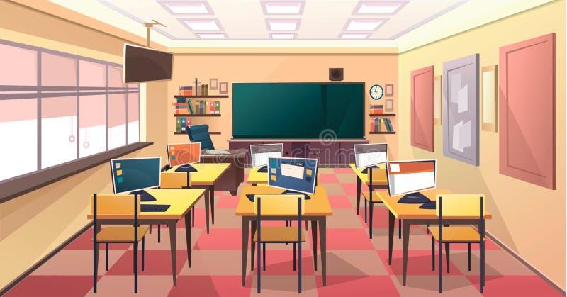 Szkolny sala lekcyjnej wnętrze ilustracja wektor